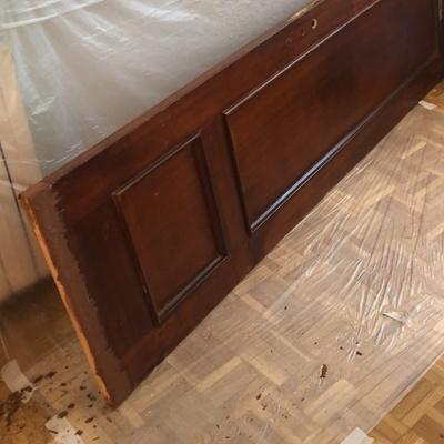 Reconstrucción de puerta de baño
