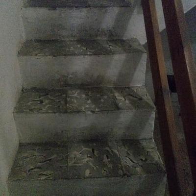 Escaleras de acceso a garaje (Antes)