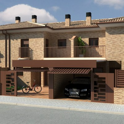 AnteProyecto de obra nueva para  10 viviendas adosadas