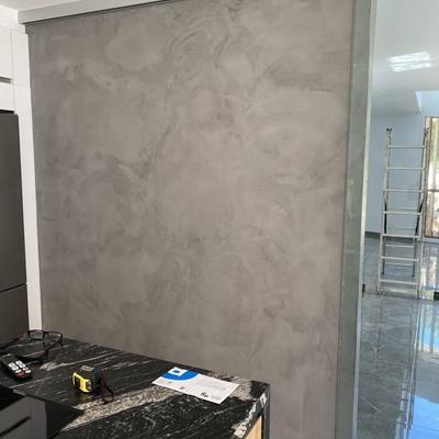 Microcemento en pared cocina