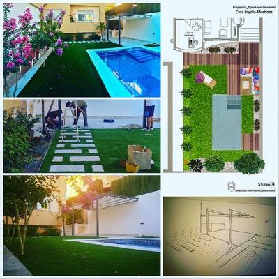 Jardín en vivienda
