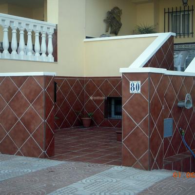 Reforma de terraza,zocalo y escalera de vvda.unifamiliar
