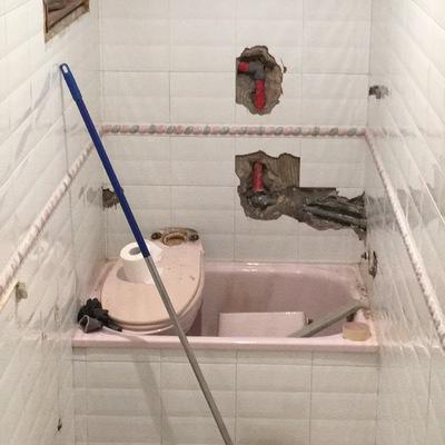 Comienzo de reforma de baño