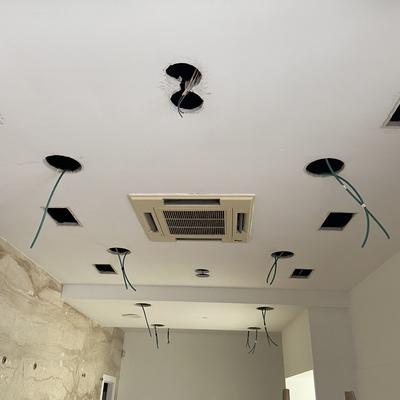 Instalación eléctrica de iluminación local comercial