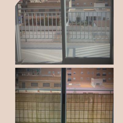Ocultación 100% en balcón