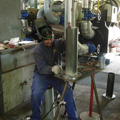 Soldadura de tuberías de climatización