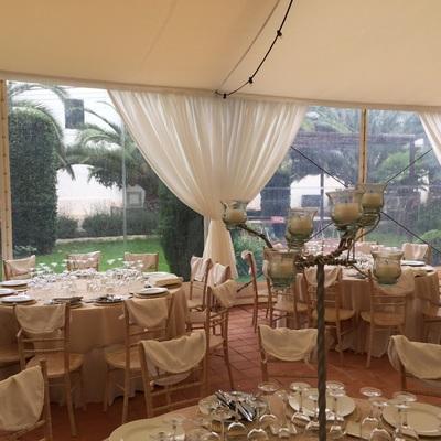 Carpa para una boda en aldamar (Valencia)