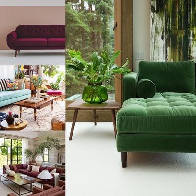 Boceto para elección de mobiliario para salón