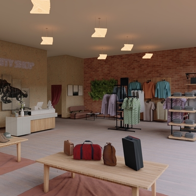 Diseño tienda de ropa Vanity Interior Vista 2