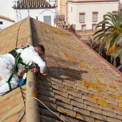 Preparación y saneamiento de tejas