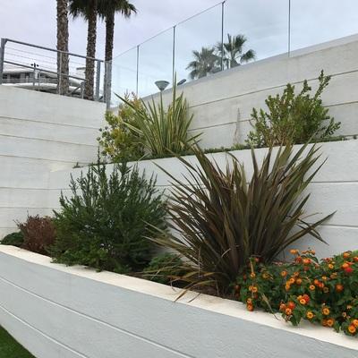 Jardineras en terraza