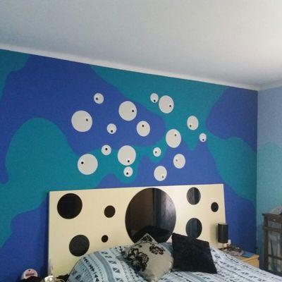 Mural pintado a nano.