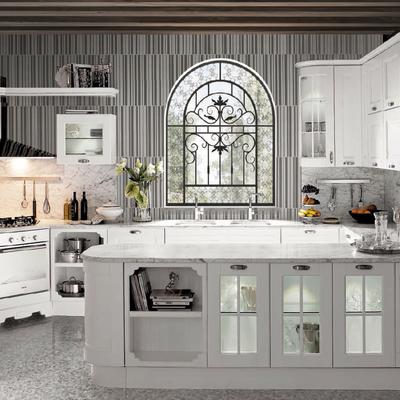 cocina lacada blanca