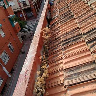 Mejoras en tejados (antes)