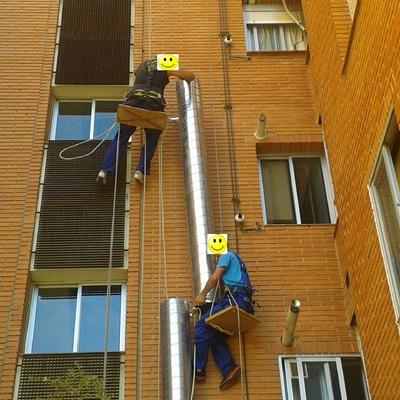 Instalando los tubos de canalización