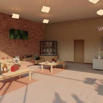 Diseño tienda de ropa Vanity Interior Vista 3