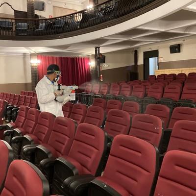 Desinfección festival cine
