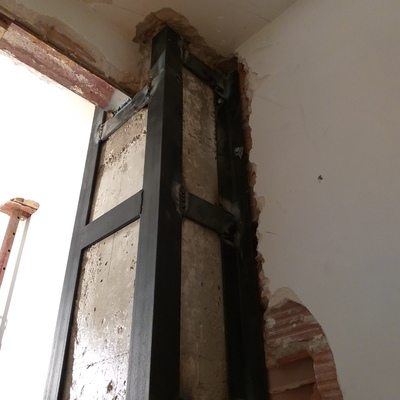 Reparación de pilar estructural