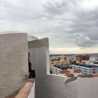 Colocación claraboya y puerta ventana