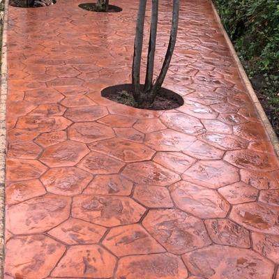 hormigon impreso pasillo hardin exterior