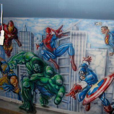 habitación  juvenil  - mural