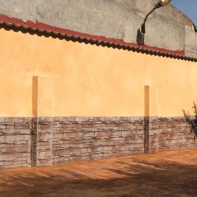 Muro acabado con impreso vertical