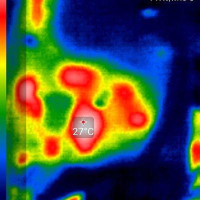 muestra térmica de placa reparada