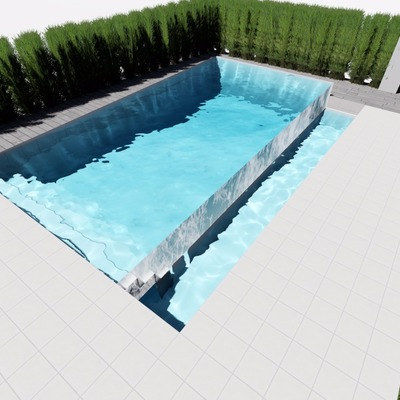 Piscina infinity lateral