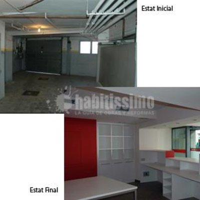 El antes y el despues de unas oficinas
