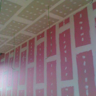 Trasdosado placa rosa