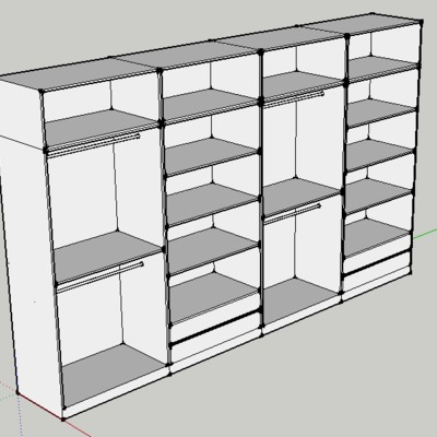 Diseño interior armario