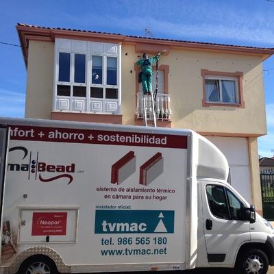 Instalación por el exterior en vivienda unifamiliar