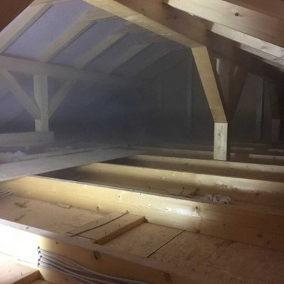Bajo cubierta antes de aislar