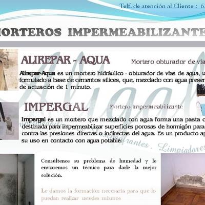 Impermeabilizaciones, Rehabilitación, Productos Químicos