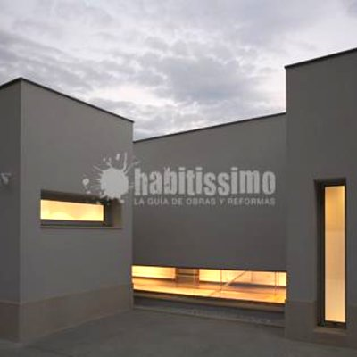 Detalle exterior vivienda unifamiliar