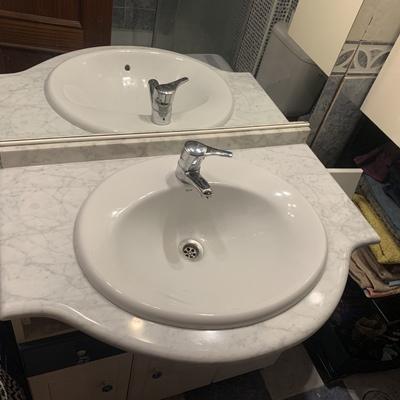 Rotura encimera baño