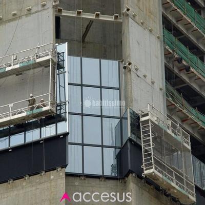 Plataformas suspendidas de doble piso