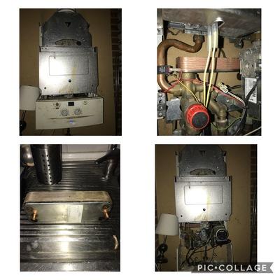 Reparación caldera y revisión