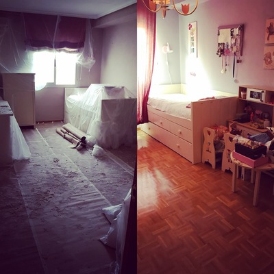 Limpieza de habitaciones por reforma