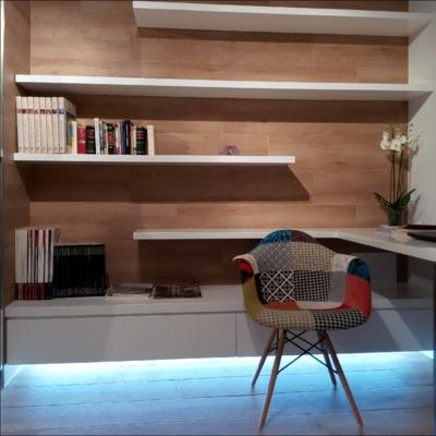Reforma de vivienda en Tudela con porcelánico imitación madera