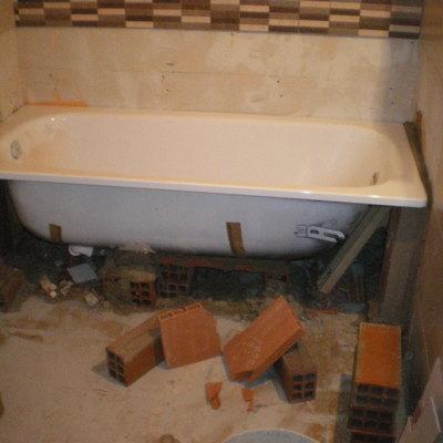hacer un lavabo con bañera