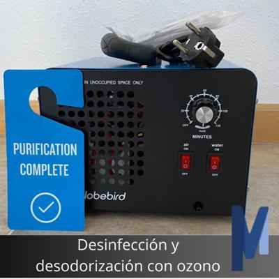 Desinfección y desodorización con ozono