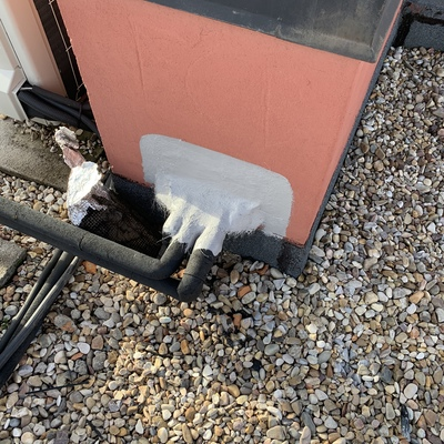 Remate de tubo A/C con problemas de filtraciones de agua