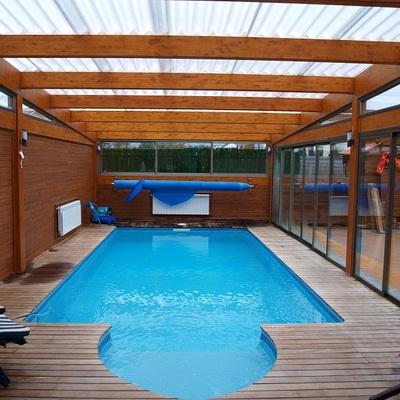 A6 cubierta de madera