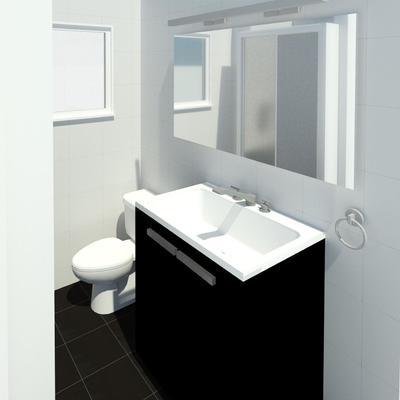 Visualización 3d baño