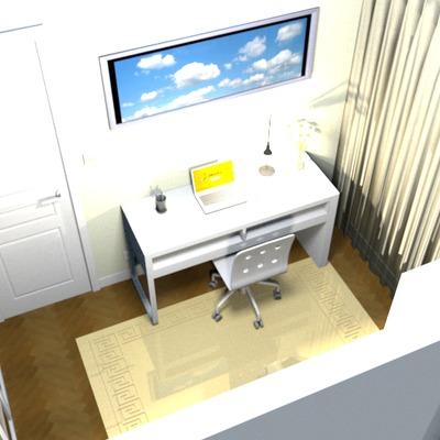 Diseño en 3D de decoración para la apertura de un ventanal.