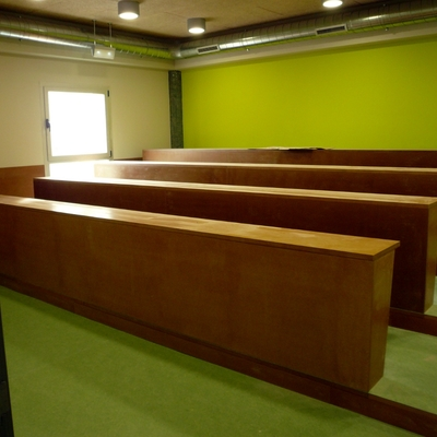 Aadecución de local como biblioteca púbica. Ansoáin - Navarra