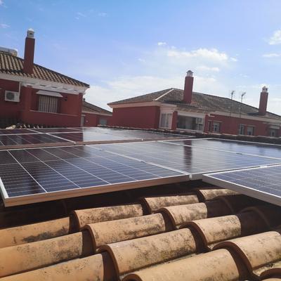 Paneles en tejado inclinado
