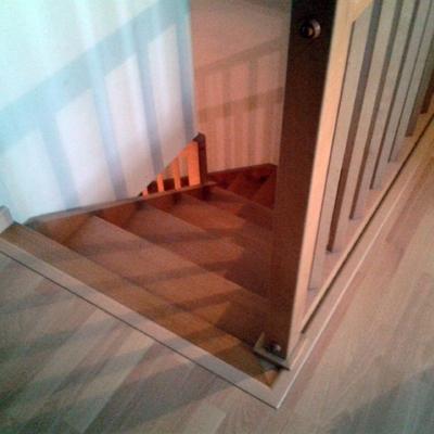 Acabado de parquet en escalera de madera