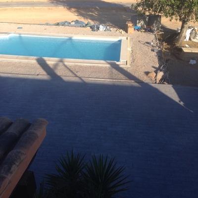 Acabado piscina solera